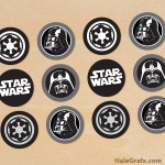 FREE Printable Star Wars Darth Vader Cupcake Toppers