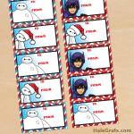 FREE Printable Christmas Big Hero 6 Gift Tags