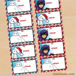 FREE Printable Christmas Big Hero 6 Gift Tags