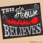 FREE Printable Christmas Santa Chalkboard Art