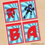 FREE Printable Big Hero 6 Alphabet Banner Pack