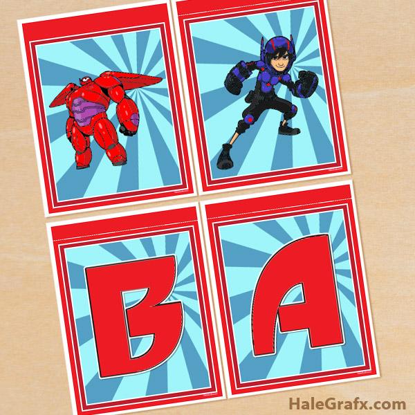 FREE Printable Big Hero 6 Alphabet Banner Pack
