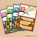 FREE Printable Owl Birthday Invitation Set