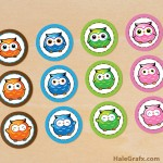 FREE Printable Kawaii Owl Cupcake Toppers