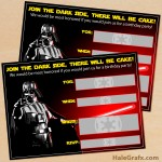 FREE Printable Star Wars Darth Vader Birthday Invitation