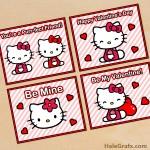 FREE Printable Hello Kitty Valentines