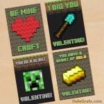 FREE Printable Minecraft Valentines
