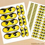 FREE Printable LEGO Ninjago Eyes