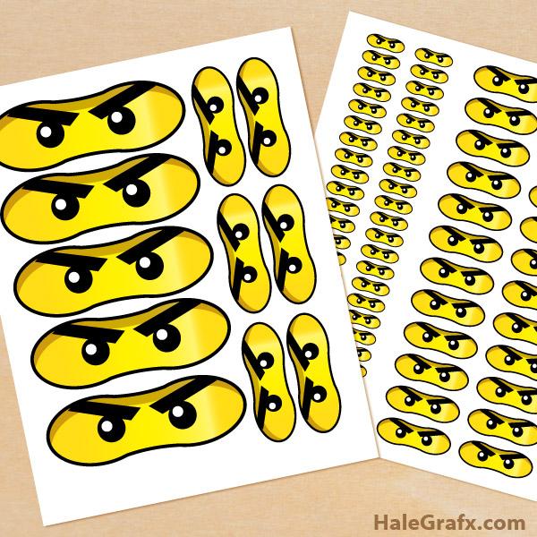 Printable LEGO Ninjago Eyes