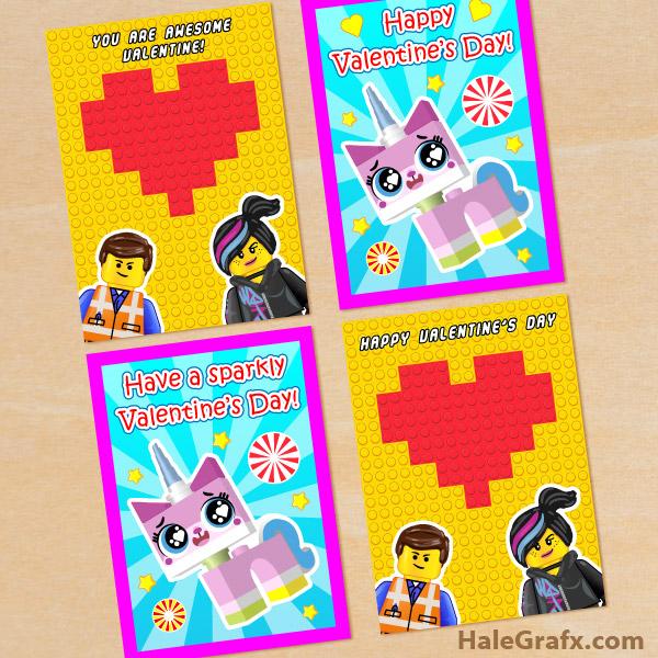 FREE Printable LEGO Movie Valentines