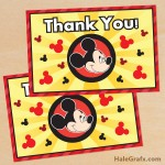 FREE Printable Mickey Mouse Thank You Card