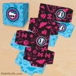 FREE Printable Monster High Treat Box Set