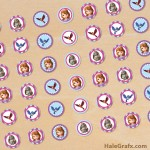 FREE Printable Sofia the First Hershey's Kisses Stickers