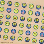 FREE Printable Spongebob SquarePants Hershey's Kisses Stickers