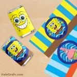 FREE Printable Spongebob Squarepants Mini Candy Bar Wrappers