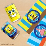 FREE Printable Spongebob Squarepants Mini Candy Bar Wrappers