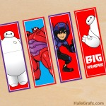 FREE Printable Big Hero 6 Bookmarks