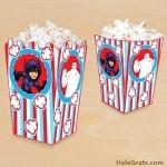 FREE Printable Big Hero 6 Popcorn Box
