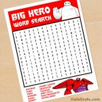 FREE Printable Big Hero 6 Word Search