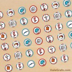 FREE Printable Dr. Seuss Cat in the Hat Hershey's Kisses Stickers