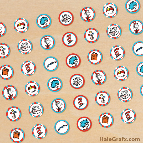 cat in hat candy stickers FREE Printable Dr. Seuss Cat in the Hat ...