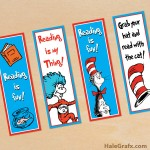 FREE Printable Dr Seuss Cat in the Hat Bookmarks