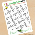 FREE Printable Dr. Seuss Green Eggs and Ham Maze