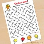 FREE Printable Dr. Seuss Lorax Maze