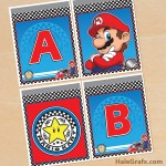 FREE Printable Mario Kart Alphabet Banner Pack