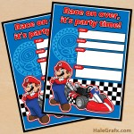 FREE Printable Mario Kart Birthday Invitation Set