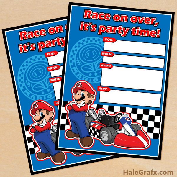mario kart invitation FREE Printable Mario Kart Birthday Invitation ...