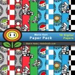 FREE Mario Kart Digital Paper Pack
