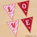 FREE Printable Valentine's Day Alphabet Banner Pack