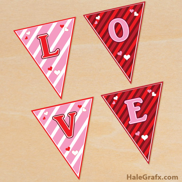 FREE Printable Valentine's Day Alphabet Banner Pack