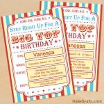 FREE Printable Circus Birthday Invitation Set