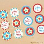 FREE Printable Circus Cupcake Toppers