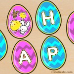 FREE Printable Easter Egg Banner Set