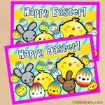 FREE Printable Cute Kawaii Easter Greeting Card