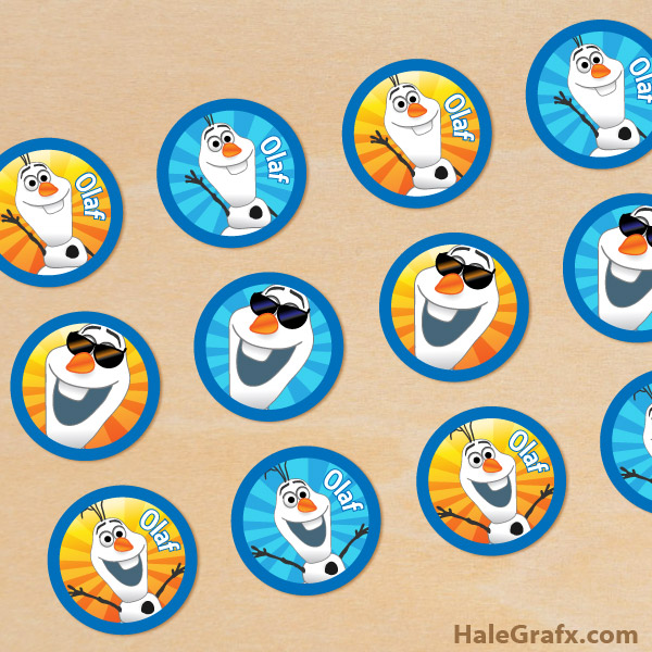 FREE Printable Frozen Olaf Cupcake Toppers
