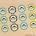 FREE Printable Mod Monkey Cupcake Toppers