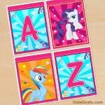 FREE Printable My Little Pony Alphabet Banner Pack