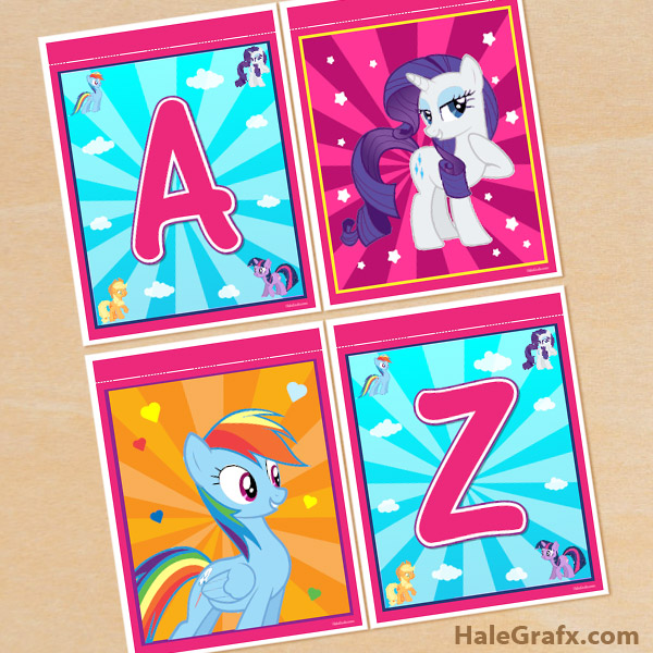 FREE Printable My Little Pony Alphabet Banner Pack