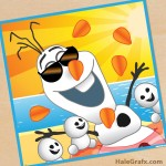 FREE Printable Frozen Pin the Carrot Nose on Olaf in Summer