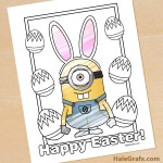 FREE Printable Easter Minion Coloring Page