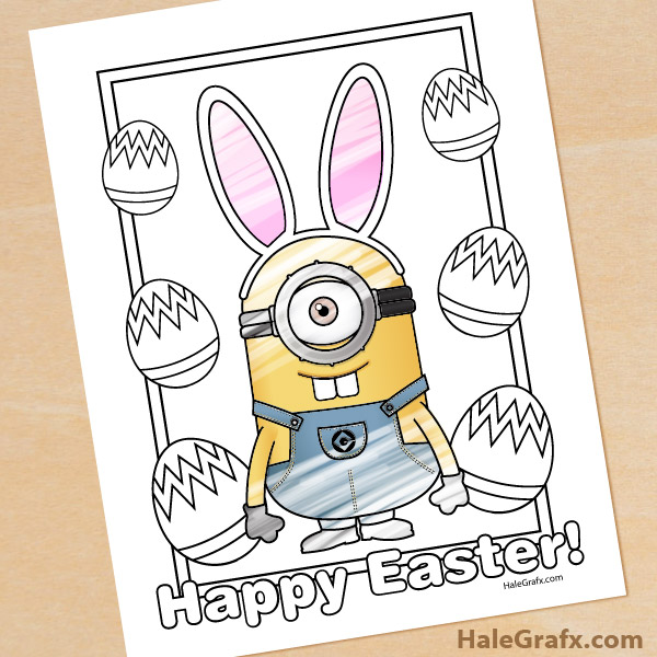 Printable Easter Minion Coloring Page