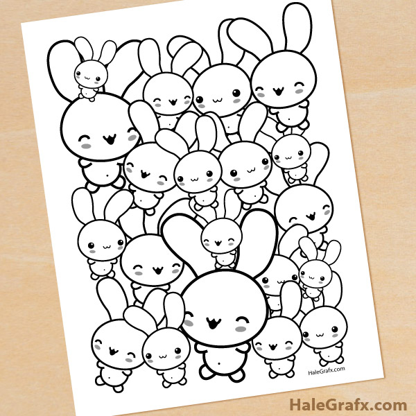 Printable Bunny Coloring Page for Easter
