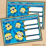 FREE Printable Cute Kawaii Minion Birthday Invitation