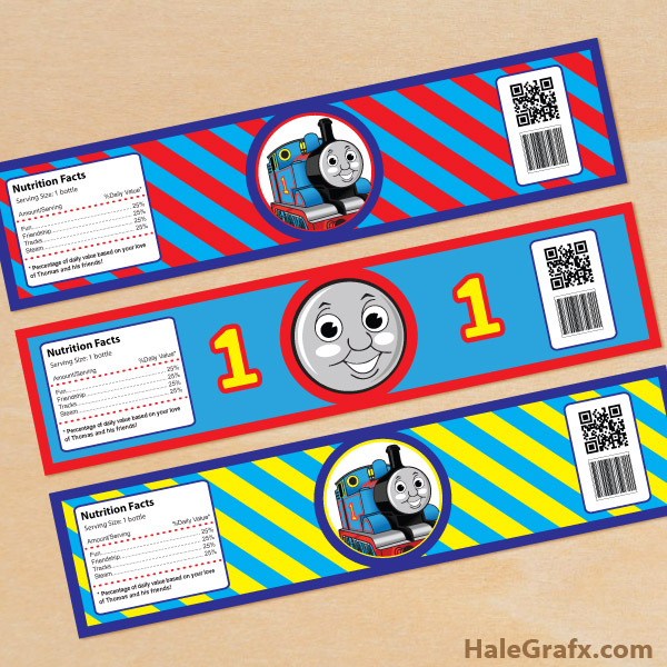 free printable thomas the tank engine water bottle labels