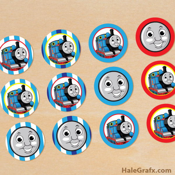 It's just a graphic of Delicate Free Printable Thomas the Train Cup Cake Toppers