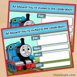 FREE Printable Thomas the Tank Engine Birthday Invitation